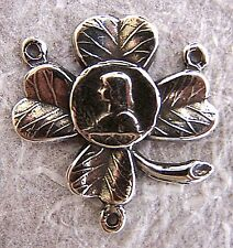Rosary Parts Center Irish Joan of Arc Clover Sterling Silver or Bronze #1191