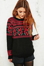 NEW URBAN OUTFITTERS STARING AT STARS BLACK RED ROSA FLORAL JUMPER TOP S,M,L £45