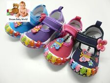 Lovely girls canvas shoes size 3.5 - 8 UK - in 4 lovely colours NEW!!