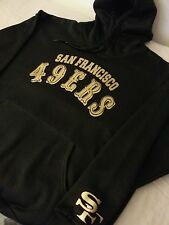 49ers gold black hoodie colin kaepernick pullover football sweater NFL stickers