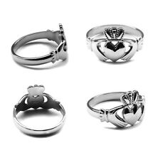 NEW Sterling Silver Claddagh Ring Irish Made Many Sizes Available Mens Womens