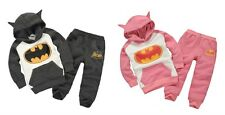 2pcs baby kids boys girls fleece Hoodie and pants outfits& set autumn suits bat