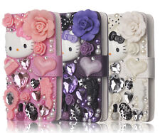 For Samsung Galaxy S3 i9300 3D Luxury Bling Hello Kitty Leather Flip Wallet Case