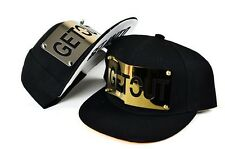 Metallic Men's Women's Hip hop visor dancing Snapback black new hat cap W1