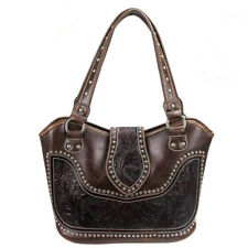 Concealed Carry Tooled Leather Gun Purse-Concealment CCW Handbag by Montana West