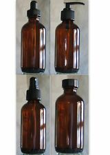 4oz BOSTON ROUND BOTTLES - AMBER (BROWN) - DROPPERS, ATOMIZERS, PUMPS, OR CAPS
