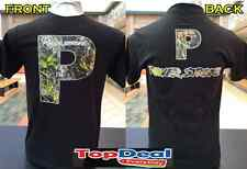 POWERSTROKE CAMO T SHIRT BLACK FRONT & BACK DIESEL POWER FORD TRUCK