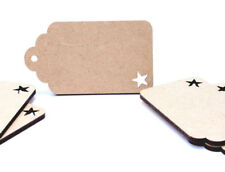 Wooden MDF Curved Luggage Tags Label Tags Gift tag Christmas Craft with Star