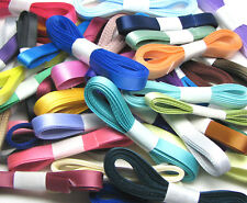 """5y 10y 25y 16mm 25mm Mixed Assorted Double Sided Satin Ribbon 5/8"""" 1"""" Eco Gift"""