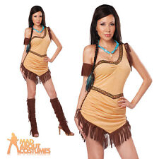Adult Indian Native American Beauty Costume Sexy Squaw Fancy Dress Outfit New