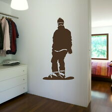 SNOWBOARDING SNOWBOARD LARGE WALL STICKER DECAL giant tattoo picture print SP10