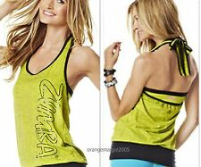 ZUMBA FITNESS DANCE~Bubble HalterTop Tee Shirt Tank~CUT iT Up for Edgy Look S M