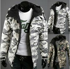 2014 hot fashion new winter camouflage style men's hooded jacket 2 color 4 size
