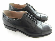 NEW CLARKS HUNT SPUR  BLACK ALL LEATHER OXFORD SHOES S 9.5 EU 44 BNWT