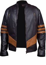 XMEN Wolverine Logans Biker Rider Real Leather Jacket -BNWT