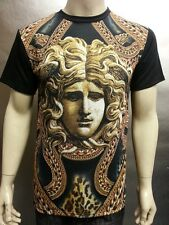 Chained Medusa Face Vintage Sublimation  Men's T Shirt Versace Looks Graphic