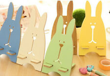 Prison Rabbit Wood  Mobile Cell Phone Stand Holder For iphone samsung htc
