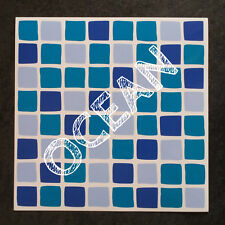 30 Self Adhesive Mosaic TILE TRANSFERS Stickers BATHROOM Kitchen OCEAN BLUE