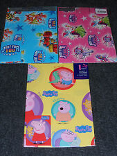 Birthday Gift Wrap Pack 2Sheets + 2Tags Peppa Pig, Blue and Pink