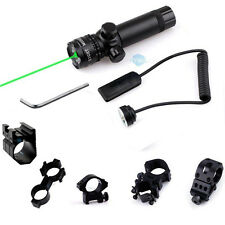 980ft 5mw Tactical Hunting Green Laser Sight Scope with Pressure Switch Mount US