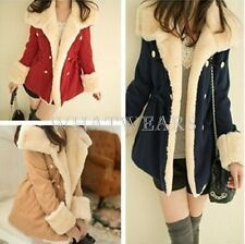 Korean Winter Fashion Slim Warm Double-breasted Wool Blend Jacket Women Coat GBW