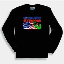 Patriotic Sweatshirt U S A America American Flag Stand Strong