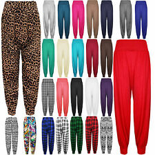NEW WOMENS ALI BABA PRINTED BAGGY HAREM TROUSERS STRETCH PANTS PLUS SIZE S-4XL