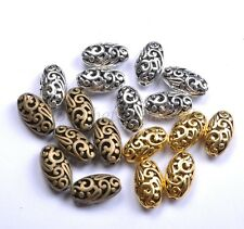 Tibetan Silver Ellipse Shaped Hollow Spacer Beads For Jewellry 18X10MM B22