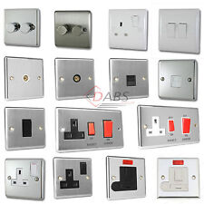 Polished Chrome, Brushed Nickel Plug Sockets Light Switch Phone Tv Socket Cooker