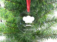 Personalized Custom Chef, Baker, Cook Clear Acrylic Christmas Tree Ornament
