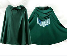 ATTACK ON TITAN INVESTIGATION UNIFORM COSTUME COSPLAY SURVEY CORPS CLOAK CAPE