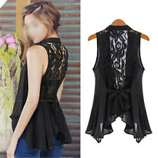 New Lace Fashion Women Lady Vest Tank Top Sleeveless Casual Chiffon T Shirt