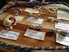 7 FuN Kumihimo findings end caps,large hole beads,spacers,rings 6set(s) IN LOT