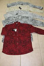 NWT big mens 4X-6X Ablanche button up shirts 5 colors