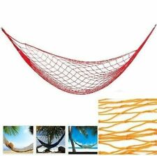 Outdoor Travel Camping Hammock Garden Portable Nylon Hang Mesh Sleeping Bed WS