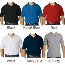 NEW MENS COLLAR PLAIN CLASSIC POLO GOLF QUALITY T-SHIRT 3 BUTTONS S M L XL XXL