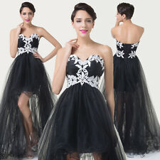 2015 Black High-Low Gown Masquerade Evening Prom Party Banquet Bridesmaid Dress