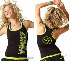 ZUMBA FITNESS DANCE RACERBACK TOP TANK Convention~London~Harrods~Signature Zumba