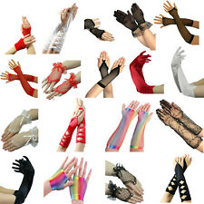 Gloves Fancy Dress Cosplay Elbow Burlesque Long Opera Evening Womens Ladies Lace