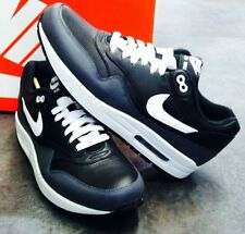 Nike Air Max 1 LTR Black White Dark Grey 654466-001 New Men's Athletic Sneakers