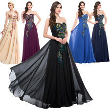 GK NEW Peacock Vintage Cocktail Evening Ball Gown Masquerade Party Prom Dress +
