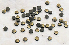 Marcasite Natural Round Loose Stones Machine Cut Polished Sizes 50 Pack