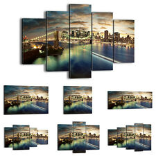 FRAMED Canvas Print Picture 48 Shapes Wall Art NY New York city bridge 0226 an