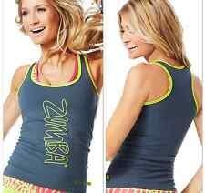 ZUMBA FITNESS RACERBACK Top ~Convention~London Harrods~Signature Zumba Z1T00505