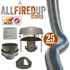 "Flexible Flue Liner Installation Kit 10 Multifuel Wood Burning Stove 4"" To 5"""