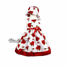 NEW Baby Girls Cotton Summer Dresses size 0/3m-6Y  Satin Hem in Red and Purple