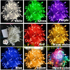 8 Multi-Action 100/200/300 LED Xmas Christmas Fairy String Lights Party Wedding