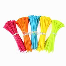 100/500 Mixed Color Plastic Cable Ties Strap 102mmX2mm Zip Tie Cable Wire Tidy