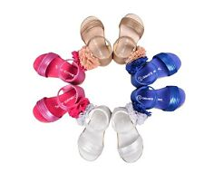 NEW Girls Sandals Pom Pom Shoes School Kids Princess Child Summer Shoes sz 3-9