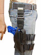 NEW Barsony Tactical Leg Holster w/Mag Pouch CZ, EAA, FEG Full Size 9mm 40 45